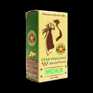 Cà phê StarVina Coffee Moka – hộp kraft 250g